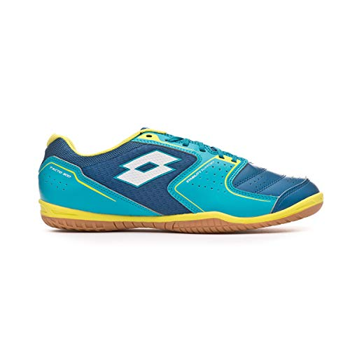 Lotto Tacto 500 IV ID, Futsal-Schuh, Gem Blue-All White-Blue Bird, Mehrfarbig - Gem Blue All White Blue Bird - Größe: 44 EU