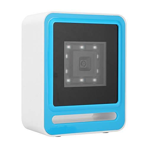 gostcai USB 1D Scanner 2D Barcode Reader, automatisches Scannen von Barcodes, für Windows/OS X/POS-Registrierkasse, Identifizieren von Bildschirmcodes, unvollständigen Codes und Fuzzy-Codes.(Weiß)