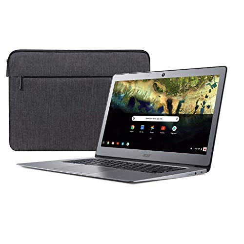 Acer Chromebook 14, Celeron N3160, 14' Full HD, 4GB LPDDR3, 16GB eMMC, CB3-431-C9W7 Bundle, Silver