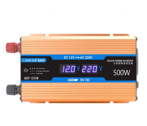 FURUN Power Inverter 12V/24V/48V/60V to 220V, Modified Sine Wave Car Inverter, Universal AC Outlets, DC to AC Converter with Dual Led shows and USB Port 500W/1200W/1600W/2200W