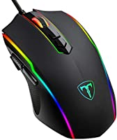 PICTEK Gaming Mouse Wired, RGB Chroma Backlit Gaming Mouse, 8 Programmable Buttons, 7200 DPI Adjustable, Comfortable...