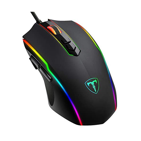 PICTEK Gaming Mouse Wired, RGB Chroma Backlit Gaming Mouse, 8 Programmable Buttons,...