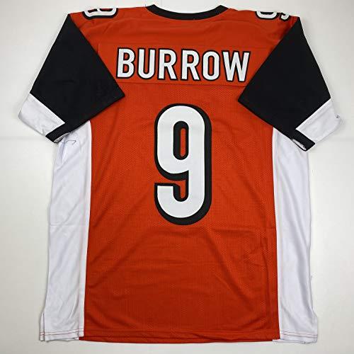 Unsigned Joe Burrow Cincinnati Orange Custom Stitched Football Jersey Size Men's XL New No Brands/Logos