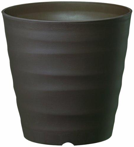 大和プラスチック (ACTOR) 鉢・プランター フレグラーポット 24型 ダークブラウン 奥行24×高さ24×幅24cm
