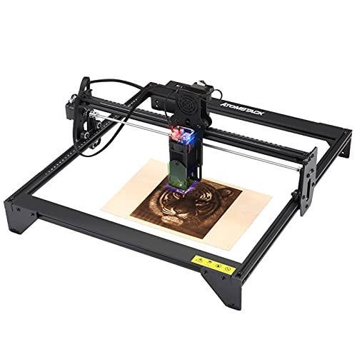 20W CNC Lasergravierer Graviermaschine, Mini Laser Graviermaschine, Lasergravur Schneidemaschine, Tragbare USB Lasergravur Maschine mit Laserschutzabdeckung, Gravurfläche 410x400mm