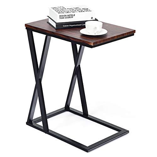 COSTWAY Tavolino da Salotto, Elegante Mobiletto da Camera da Letto, 60 x 34,5 x 50 cm