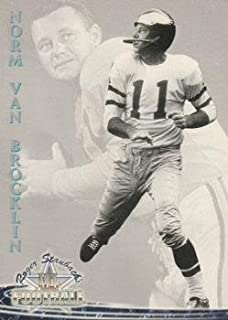 Norm Van Brocklin Football Card (Philadelphia Eagles) 1994 Ted Williams Card Co. #48 Quarterback