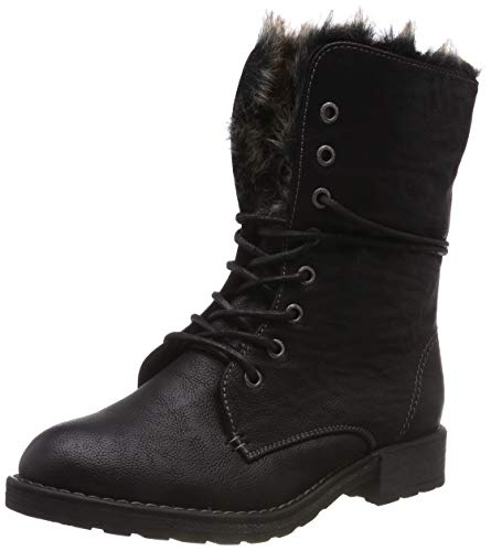 TOM TAILOR Damen 585200730 Stiefeletten, Schwarz (Black 00001), 38 EU