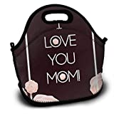 Bolsa de almuerzo con aislamiento térmico personalizada I Love Your Mother 's Happy Mother' s Day, bolso personal Bolsa de almuerzo