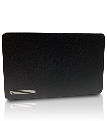 Münzfach für Slim-Wallets, sehr dünnes Kleingeldfach, Coin Case/Coin Card aus Aluminium für, Kreditkartenetuis, Kartenetuis, Geldbeutel - Blockt RFID Signale - GOUTALLIER ®