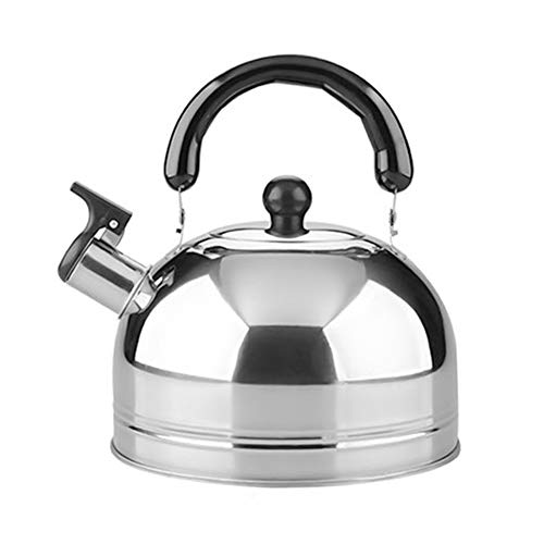 Branches&tree Tea Kettle for Stovetop Whistling Tea Pot, Stainless Steel Teakettle Tea Pots for Stove Top, 2L/3L/4L Large Capacity Mirror Polish(Silver-3L)