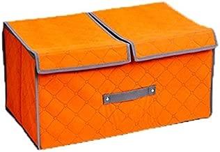 House of Quirk Fabric Socks, Bra, Tie and Scarfs Organizer (Orange, Standard Size)