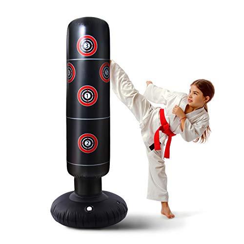 Boxsack Kinder 160 cm Boxsack Stehend eignen Sich für Taekwondo-Karate-Trainingsgeräte,Verbessern Sie die körperliche Koordination von Jugendlichen und Erwachsenen