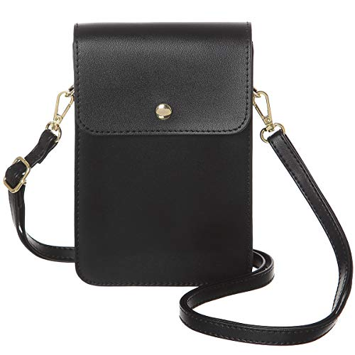 MINICAT Back Slot Series Small Crossbody Cell Phone Purse Wallet Smartphone Bags For Women(-RFID Blocking)