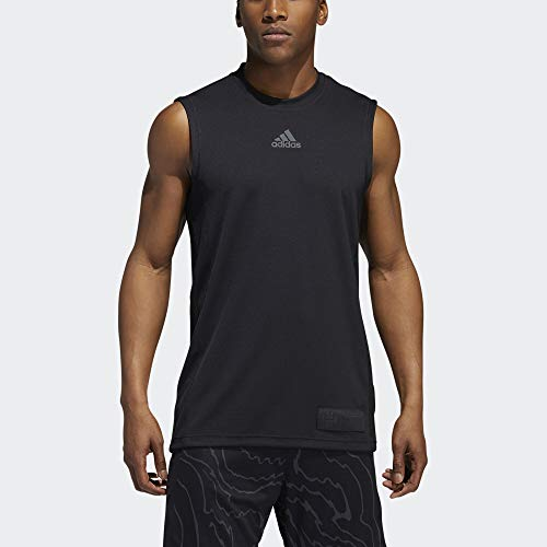 adidas Camiseta sin Mangas Harden Swag para Hombre, Hombre, Camiseta de Tirantes Anchos, F19BMHAR300, Negro, S
