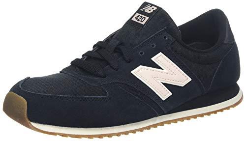 New Balance Damen 420 Sneaker, Schwarz (Black/Oyster Pink Blk), 36 EU