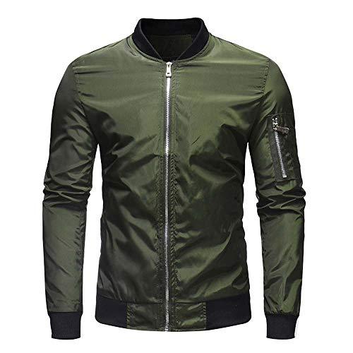 manadlian Hommes Blouson Hiver Veste de Sport Chaud Moto Blousons Zipper Blouse Outwear Men Jacket Casual Manteaux Slim Fit Manches Longues Sweats
