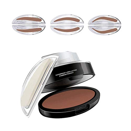LeeBoom Sourcils Poudre Timbre Sourcils imperméable Poudre Perfect Seal Nature Sourcil Poudre teinter coloriage Kit de Maquillage