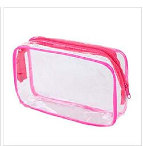 WEMUR Trousse de Toilette Maquillage Damas cosmético del Recorrido Bolsa Transparente Bolsa de cosméticos Bolsa de Almacenamiento de Color Amarillo (Color : Blue)