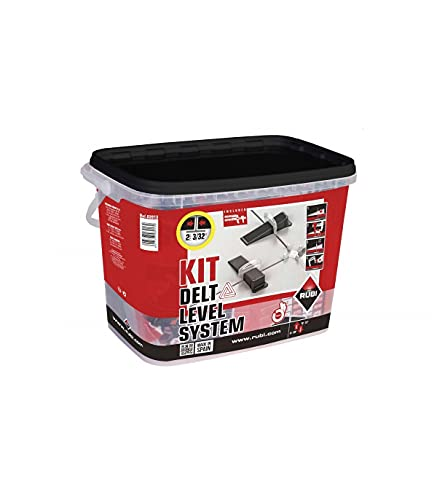 RUBI Kit bridas de nivelación Delta Level System 1 mm, para cerámica de 3 a 12 mm, multicolor