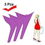 Dream-D 3 pzas Orinal portátil para Mujeres, Dispositivo de Embudo de Inodoro para Viajes de Viaje, urinario de pie Femenino