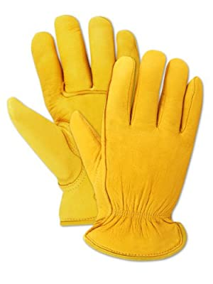 Magid Men's Pro Grade Collection Premium Thinsulate-Lined Grain Deerskin Gloves