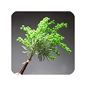 NA Honey Yo 5Pcs Small Size Red Mimosa Bouquet Home Decoration Japanese Cherry Wedding Artificial Flower Party