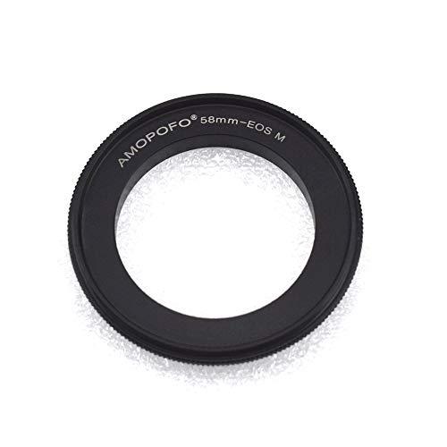 Anillo adaptador retro EOS-M de 58 mm. Adecuado para fotografía macro, compatible con cámara sin espejo Canon EF-M Mount M1 M2 M3 M5 M6 M10 M50 M100.