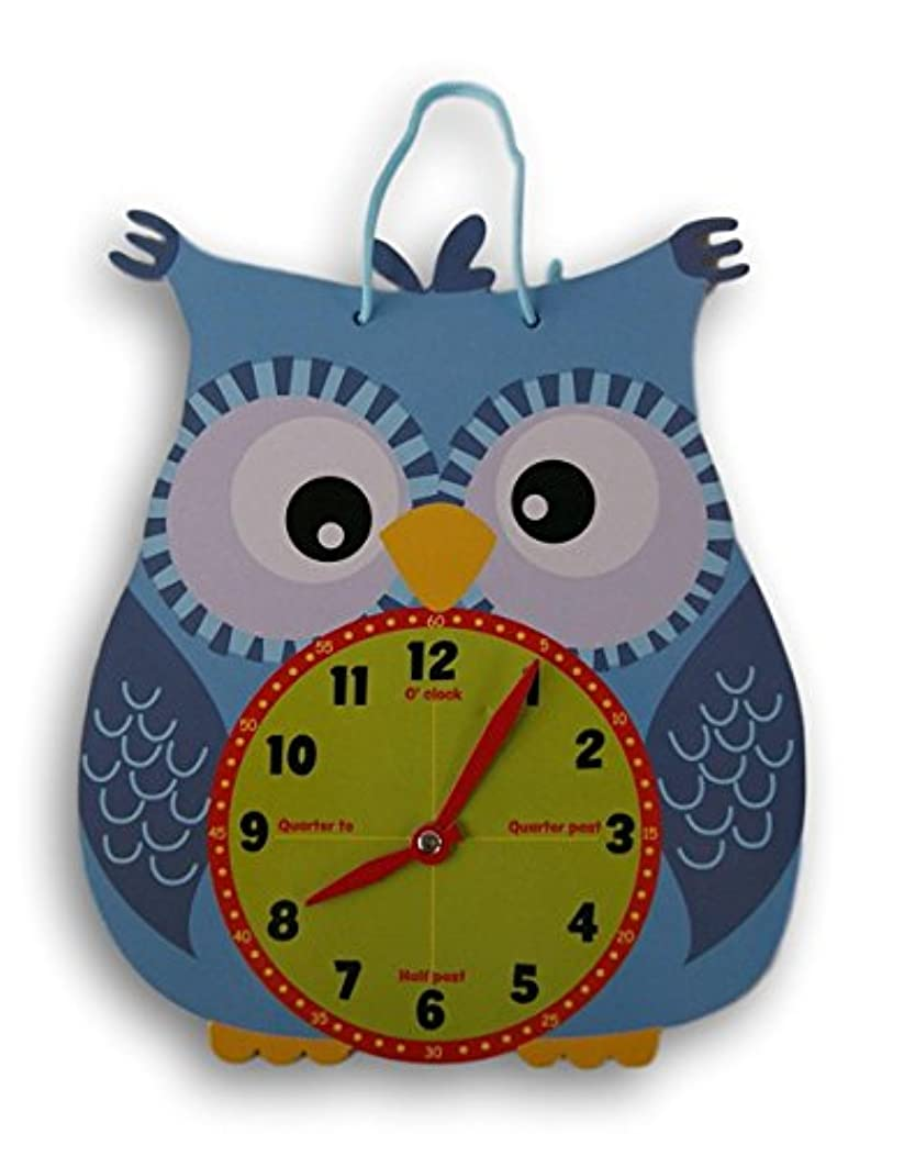 Kids Create Die Cut Owl Shaped Analog Practice Clock