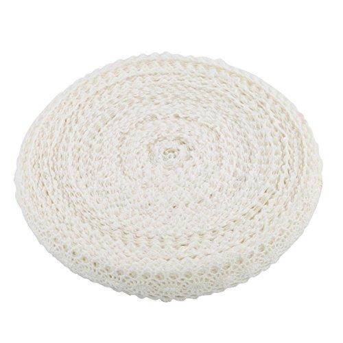 Naler 20M Spitzenband Weiße Borte Baumwolle Dekoband Vintage Spitzenborte Häkel-Borte für Basteln Nähen Hochzeit Deko Scrapbooking Geschenkbox