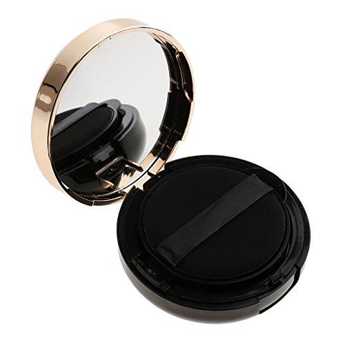 Fenteer Boîte Coussin de Teint Vide à Poudre Air Coussin Conteneur avec Miroir et éponge pour BB/CC Crème - A