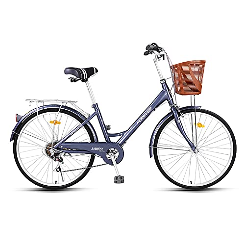 Bicycle, Variable Speed Bicycle, 6-Speed, 24/26 inch Wheels, High-Carbon Steel Low-Span Frame, Used for Commuting to Work, Suitable for Adults, Junior High School Students/A / 167cm