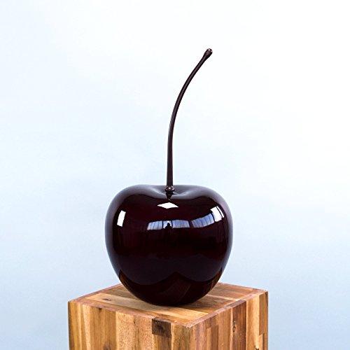 Deko Obst   Deko Frucht   Deko Früchte   Künstliches Obst   Kirsche Bordeauxrot-17x15x32cm