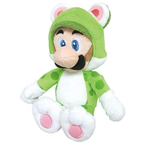Sanei Super Mario 3D World Neko Cat Luigi 22,9 cm poupée en Peluche