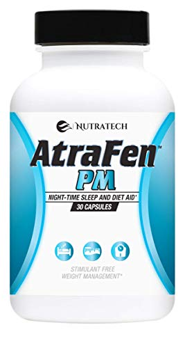 Atrafen PM -PM Diet and Sleep Aid Suppresses Appetite. Helps Regulates Blood Sugar and Cortisol Levels  Stimulates Your Metabolism  and Provides Deep Sleep and 24 Hour Fat Burning!