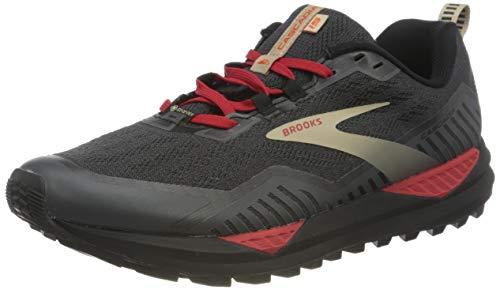 Brooks Herren Cascadia GTX 15 Laufschuh, Black Ebony Red, 45 EU