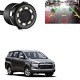 AdroitZ 76 LED 170 Degree Round Back Up Cameras Car Rear View Camera Night Vision Reversing Auto Parking Waterproof Monitor Camera for Toyota Innova Crysta
