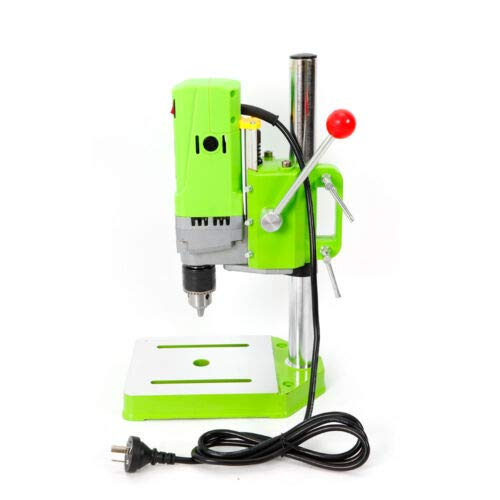 Buy Discount Mini Electric Bench Drill Press Stand, 710W WorkBench Wood Drilling Machine 1-13mm Comp...
