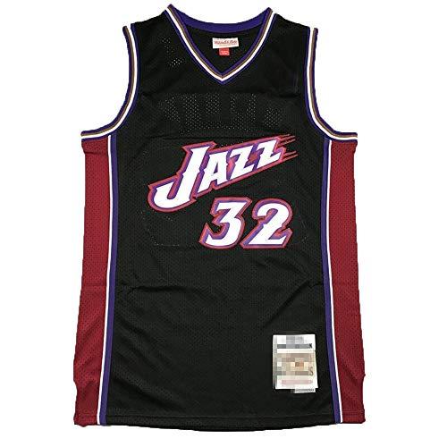 Camiseta de baloncesto sin mangas para hombre, Karl Utah NO.32 Jazz Malone Hardwood Classics Player Jersey de baloncesto Uniforme de secado rápido transpirable sudadera