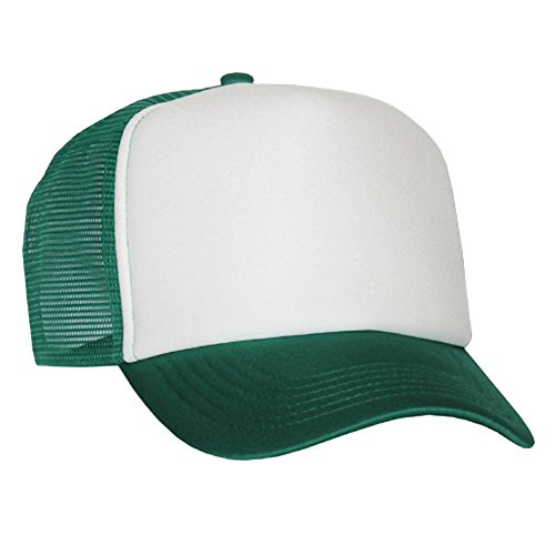 Raphia type Mesh Casquette dark green White