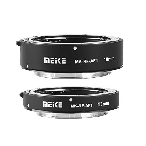 Meike MK-RF-AF1 13mm + 18mm Metal AF Full Frame Macro Extension Tube Adapter Ring Kit for for Canon EOS-R Series Cameras Canon RF Mount Cameras EOS-R EOS-RP