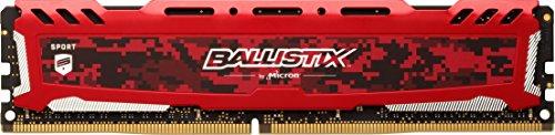 Crucial Ballistix Sport LT BLS8G4D240FSE Memoria Gaming per Computer Fissi, 2400 MHz, DDR4, DRAM, 8 GB, CL16, Rosso