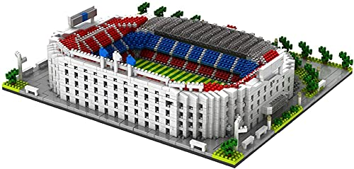 NXNX 3800 Unids San Siro Signal Iduna Park Old Trafford Camp NOU Fútbol Campo De Fútbol Real Madrid Estadio Bloques De La Arquitectura Modelo Kit,B
