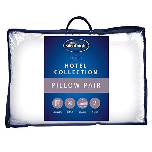 Silentnight Hotel Collection–Almohada, Color Blanco, Pack de 2