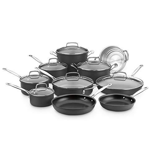 Cuisinart Chef's Classic Nonstick Hard-Anodized 17-Piece Cookware Set