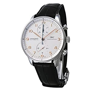IWC Portuguese Silver Dial Chronograph Mechanical Mens Watch 3714-45 image