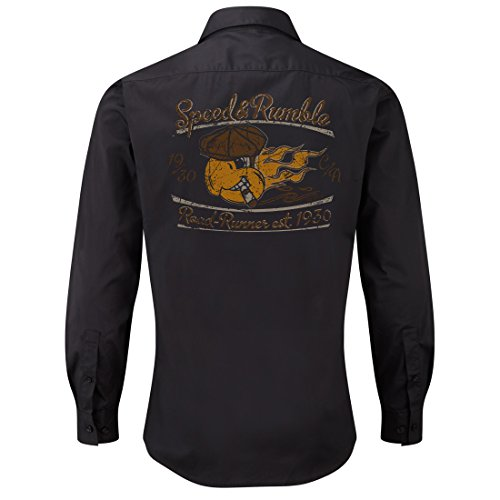 Worker Shirt, Langarm Hemd, Rock'n'Roll, Papagei, V8, US Car, Speed and Rumble