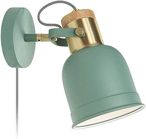 Instelbare schommel wandlamp arm metaal wandlamp slaapkamer leeslampen industrie wandlampen lampen lampen (kleur: groen)