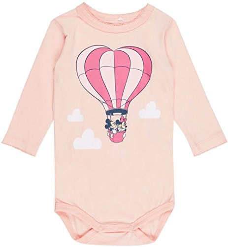 NAME IT Baby Body Langarm Minnie und Mickey Mouse nitMINNIE (Rosa, 56)