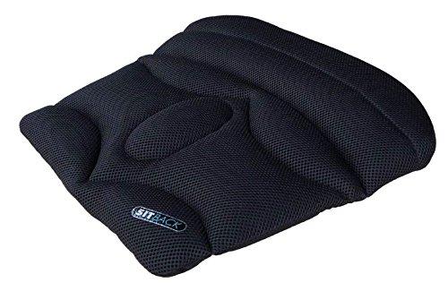 Basic black air Sitback Keilkissen Stuhlkissen Sitzerhöhung Sitzauflage, schwarz